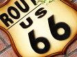 木製看板 サインプレート アンティーク 壁掛け 壁飾り ルート66 (男前 インテリア おしゃれ 雑貨 ティンサイン)