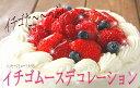 送料無料 苺ムース 5号サイズ デコレーションケーキ ギフト バースデー スイーツ 誕生日 ハロウィン2018 クリスマスケーキ2018 お歳暮2018