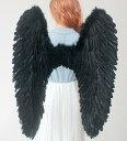 特大 天使の羽 悪魔の羽 フェザー ウィング 翼 エンジェル 天使 妖精 コスプレ コスチューム 仮装 衣装 ハロウィン ブラック ホワイト