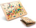 5250円以上お買い上げで送料無料!木箱日本地図パズル エド・インター安心・安全木のおもちゃ