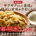 【大容量】甘さ控えめ ココナッツ バナナチップス お徳用15...