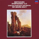 交响曲 - ショルティ/シカゴ響/ベートーヴェン:交響曲第1番 交響曲第2番 【CD】