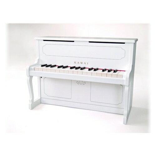 送料無料河合楽器アップライトピアノ(ホワイト)おもちゃこども子供知育勉強3歳