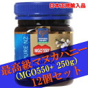 MANUKA HEALTH マヌカヘルス ニュージーランド産はちみつ マヌカハニー MGO550+ 250g 12個セット