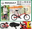 【送料無料】RENAULT RサスFDB20 20インチ折畳自転車リアサス付 MG-RN20R【ルノー 折りたたみ自転車/折り畳み自転車/赤色/レッド】【メーカー直送・代引不可・同梱不可】