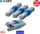 「国内再生品」オキ TNR-C4KK2・C2・M2・Y2トナーカートリッジ 4色セット (リサイクル)「E&Qマーク認定品」「送料無料」「smtb-F」