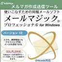【35分でお届け】メールマジック プロフェッショナル 12 for Windows 【インフィニシス】【ダウンロード版】