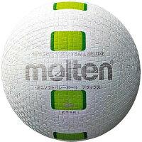 モルテン molten ミニソフトバレーボールデラックス 白グリーン S2Y1500-WGの画像