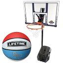 ライフタイム(LIFE TIME) バスケットゴール LT-90001 7号ボールセット 【バスケットボール バックボード ストバス 部活 新入部】