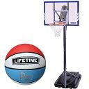 ライフタイム(LIFE TIME) バスケットゴール LT-71546 5号ボールセット 【バスケットボール バックボード ストバス 部活 新入部】