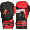 アディダス adidas パワー Power 200 デュオ ボクシング グローブ 16オンス ブラック/レッド 左右非対称カラー ADIPBG200-BKRD16