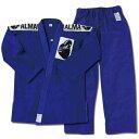【送料無料】アルマ(ALMA) 海外製柔術着 A2 青 上下セット 白帯付 JU2-A2-BU 【柔術衣/格闘技/上衣・ズボン・白帯3点セット】