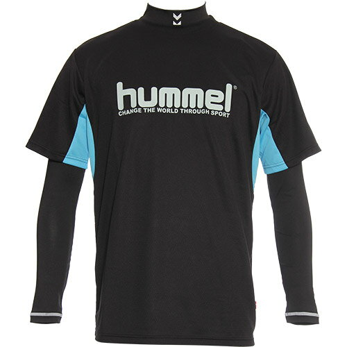 ヒュンメルhummelメンズサッカーTシャツ+インナーセットブラックHAY710690