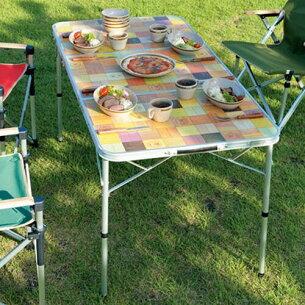 ナチュラルモザイクリビングテーブル 2000026750 キャンプ バーベキュー コンパクト 持ち運び