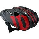 ウイルソン Wilson テニスバッグ TEAM JP 6 PACK ブラック・レッド WR8000604001