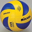 MIKASA(ミカサ) バレーボール練習球 5号 MVA360 黄/青 【バレーボール 5号球】