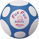 ミカサ MIKASA スマイルサッカー 縫い 約150g FFF4-WBL 白青 ふわふわサッカー4号 キッズ ジュニア