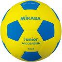 20日10:00-23日9:59迄エントリーでポイント+4倍 ミカサ MIKASA スマイルサッカーボール 軽量球 約150g 黄/青 SF3J-YBL