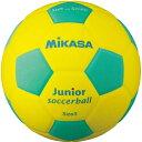 20日10:00-23日9:59迄エントリーでポイント+4倍 ミカサ MIKASA スマイルサッカーボール 軽量球 約150g 黄/緑 SF3J-YLG