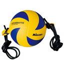 ミカサ(MIKASA) バレー 紐付きトレーニング 黄/青 MVA400ATTR 4号 【バレーボール 4号球 練習器具】