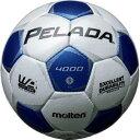 モルテン(molten) ペレーダ40005号 F5P4000-WB シャンパンシルバー×メタリックブルー 【サッカーボール JFA検定球】