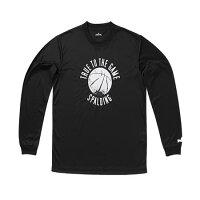 20日9:59迄限定エントリーでポイント9倍★スポルディング(SPALDING) L STシャツ-BALL SMT130430 ブラック 【バスケットボール ウェア】の画像