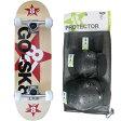 ゴースケート(GOSK8) スケートボード レッド ジュニア コンプリート+プロテクター XSサイズ 3点セット 16set GOSK8-28 PT9 【キッズ 子供 スケボー 保護パッド】