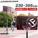 リーディングエッジ バスケットゴール 屋外 家庭用 ブラック LE-BS305B
