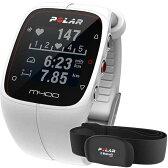 【送料無料】ポラール(polar) M400 HR ホワイト (心拍センサー付) 90051346 ホワイト 【ランニングウォッチ 腕時計 心拍計 活動量計 国内正規品】
