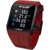 【送料無料】ポラール(Polar) V800 2 HR レッド 心拍センサー付き 90060773 【ランニングウォッチ 腕時計 トライアスロン 心拍計 活動量計】【国内正規品】