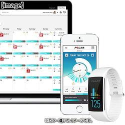 ポラール(polar)ウエアラブル活動量計リストバンドタイプA360チャコールブラックMサイズ90057420【活動量計心拍モニター腕時計Bluetooth】