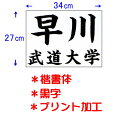 九櫻 KUSAKURA 柔道ゼッケン3427 楷・黒 JT63427KAB