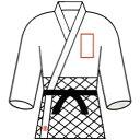 九櫻(クサクラ) 柔道衣胸ネーム刺繍(3文字) NM3【ネーム加工料】