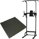 リーディングエッジ ST ホームジム 保護マットセット 懸垂器具 腹筋 腕立て運動可能 マルチジム LE-VKR02