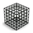 杉山製作所 Grid Box L(Black)(cc-bk)【グリッドボックス/アイアン/ブラック/オブジェ/Fe/柴田文江】
