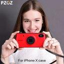 【カメラ型】iphone x ケース 韓国 可愛い ブランド...