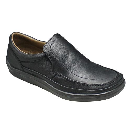 【ARUKURUN(アルクラン)】快適なウォーキングを実現する撥水加工のコンフォートシューズ(スリッポン)3E・AR1101(ブラック)/メンズ 靴