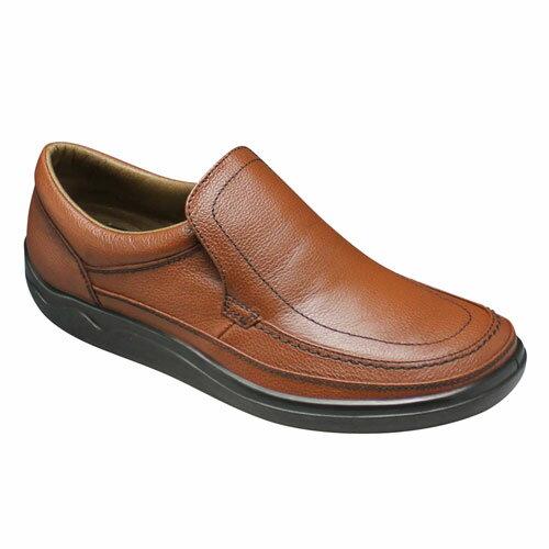 【ARUKURUN(アルクラン)】快適なウォーキングを実現する撥水加工のコンフォートシューズ(スリッポン)3E・AR1101(ダークブラウン)/メンズ 靴