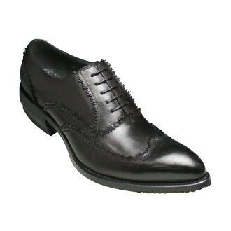 50% Off! Leg length ロングノーズシューズ wing tip (race) fs3gm BC3080 (black )