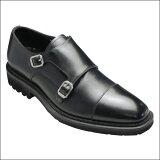 【CARLO MEDICI(カルロ メディチ)】【イタリア製】ラギットソールがオシャレなダブルベルト(ストレートチップ)・CR4668(ブラック)/メンズ 靴