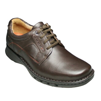 ・Cowhide business & casual shoes (plane toe), UN TIE (Ann Thailand), 582C (dark brown) .20340985