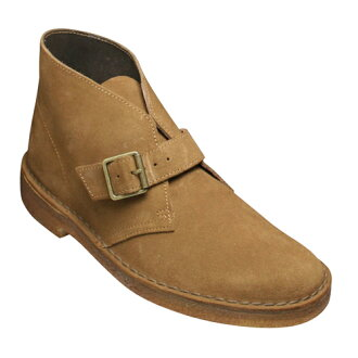 [Clarks] cowhide suede side Monk boots DESERT MONK, 610C (chorus aide) .20341462