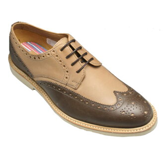 [Clarks] wing tip casual shoes, Flotilla Sun, 766C (brown dark brown) of .4 eyelets 20349477