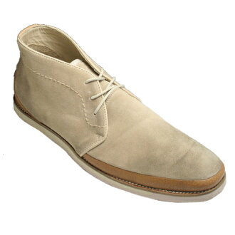 Longines leather desert boots JS1155 ( beige suede ) fs3gm
