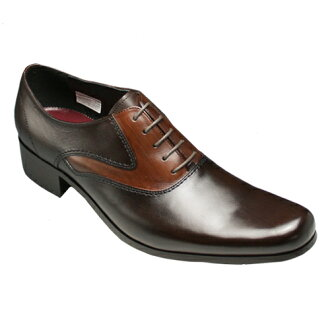 [KATHARINE HAMNETT] business shoes (plane toe), KH31292( dark brown) of a legendary man with long legs, the long nose of the stylish collar