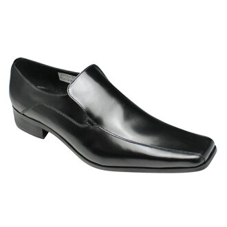 [KATHARINE HAMNETT] a popular design a re-appearance long nose slip-ons (swirl Mocha), KH3946( black) of the square toe