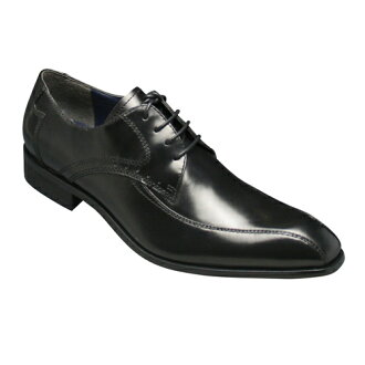 Elegant long nose, leather business shoes ( スワールモカ ) MR3007 (black)
