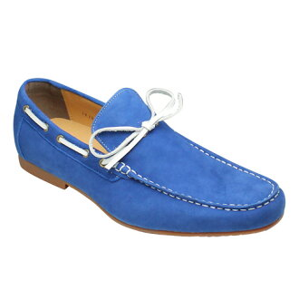 Popular deck-style cowhide leather sedoslippon (moccasins) and VT5669 (Blue Suede)