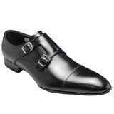 リーガル/牛革ビジネスシューズ(ストレートダブルモンク)冬底・636R(ブラック)/メンズ 靴