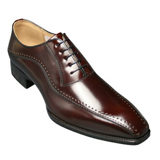 Elegantly contoured shape leg dress shoes (sworrtu) R 912 (wine)